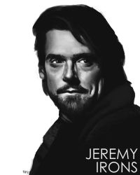Portrait of Jeremy Irons by ReneAigner