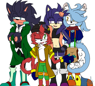 Andrew, Pokey, Storm and Cyper by Averaval-Levor