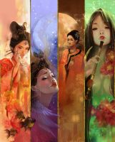 The Four Beauties by luciole