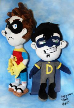 Dan and Chris version3 - heroes outfit by sewcuteplushies