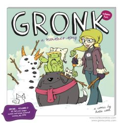 gronk book 2 cover art by katiecandraw