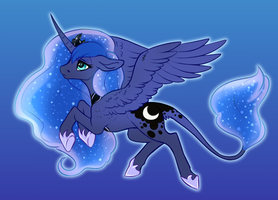 They put me on the got dang moon by Naughty-Savage