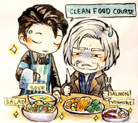 [Detroit : Become human]  CLEAN FOOD COURSE by CLOVERTALE