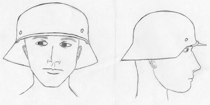 German Helmet sketch by FriedrichEngelh