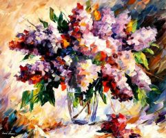 Lilac - Morning Mood by Leonid Afremov by Leonidafremov