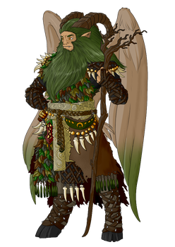 Commission - The Druid by ShadowInkWarrior