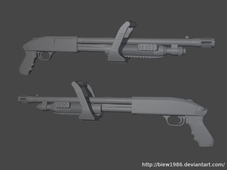 Chainsaw Shotgun High Poly by biew1986