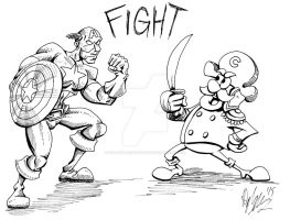 Captain vs Cap'n by OuthouseCartoons