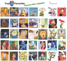 Top 35 Characters.... by TXToonGuy1037