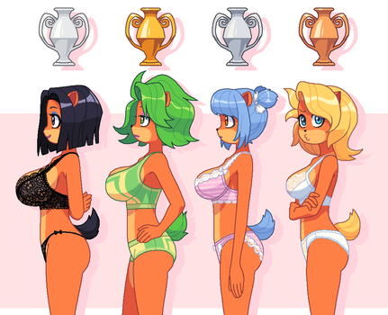 Trophy girls by KempferZero