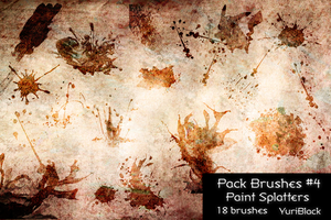 Pack Brushes #4 - Paint Splatters by YuriBlack