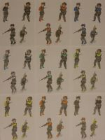 Futurama Soldiers (all colors) by Spaceman130