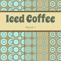 Free Iced Coffee: Floral 1 Patterned Papers by TeacherYanie