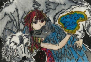 Vampire Knight Wolves Painting by buzzlightgirl