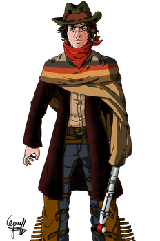REQUEST: Fourth Doctor(Cowboy Outfit)-Render by josephliendro10