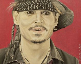 Johnny Depp - Classic Rock Awards by shaman-art