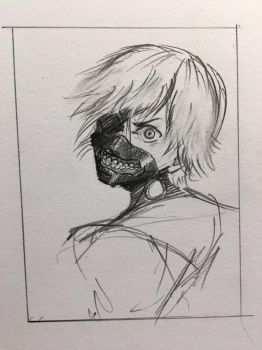 Sketch of Ken Kaneki by Yavanni