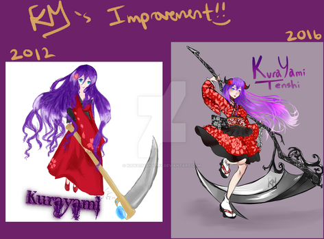 Four year Improvement!! by KawaiiManaphy