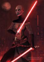 Asajj Ventress by pandamune