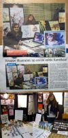 Kunstkaai Newspaper article by tikopets