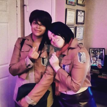 Eren X Mikasa Cosplay by blackassassins