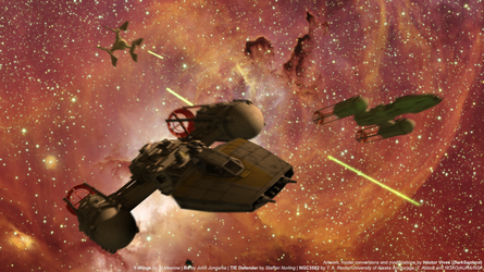 Skirmish in the Archeon Nebula by DarkSapiens