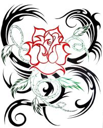 rose tribal by KatieConfusion
