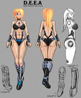 S4-League - Character concept - D.E.E.A by FunkyBacon