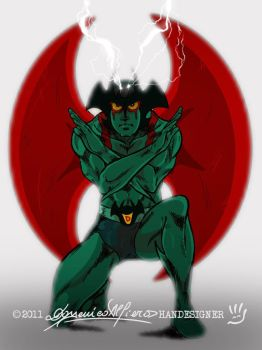 The DEBIRU HALO of Devilman by handesigner