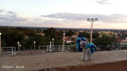 Vinyl Scratch DJPon3 in Piripiri, city of Brazil by AlfaMaster