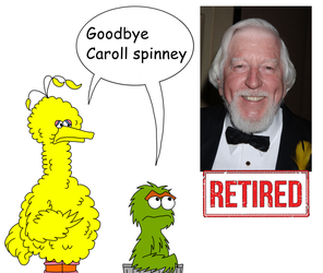 Big Bird and Oscar say farewell to Caroll Spinney by matiriani28