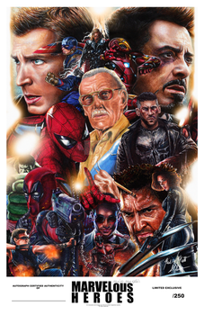Marvelous Heroes Limited Exclusive Poster by Glebe