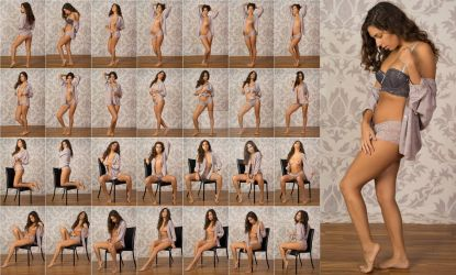 Stock: Mona Open Shirt Poses - 28 Images by stockphotosource