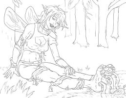 (Too) Soothing Elven Forest Massage 1 - Inks by PsylisiaDragoon