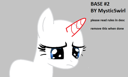 MLP BASE #2 - I don't mean it.. by MysticSwirl4