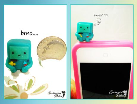 Kawaii Bmo Cellphone Dust Plug by SentimentalDolliez