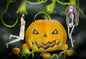 Happy Halloween from SoleSwallower and Me!! by Shaded-Seraphim