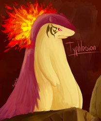 Typhlosion by Watertrack