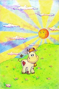 Little cow by Amber-Dragonfly