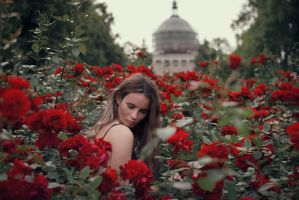 She paints the roses red III by Econita