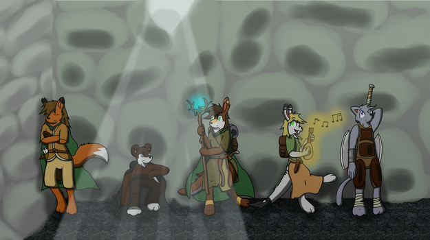 Our Intrepid Adventurers... by ArctikWolf