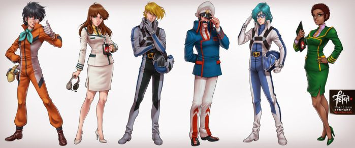 Robotech_characters set1 by FranciscoETCHART