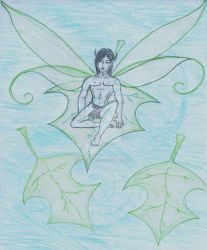 Peridot the Male faerie by serenawaters