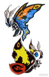 Mothra x2 by aftertaster7