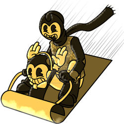 Bendy and Sammy in: ''Sled Day'' by MarkMaker36
