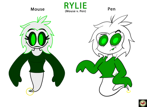 RYLIE: Rylie Xzavior (Mouse v. Pen) by AntrB
