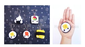 Sushi Keychains by CosmiCosmos
