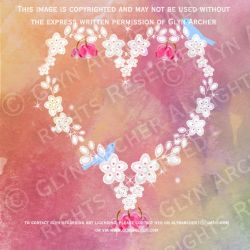 heart and birds WATERMARKED by GlynJA
