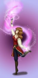 Contest Entry - Rysta Spell Casting by dragondoodle