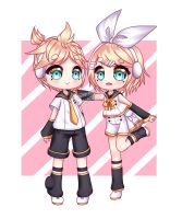 [Collab] Twins! by Shiroinya